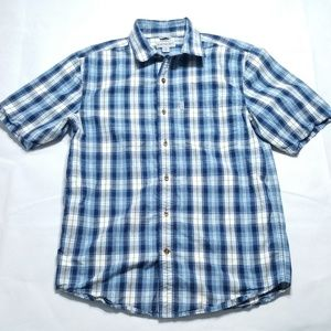Carhartt Relaxed Fit 100% Cotton Blue Plaid Shirt